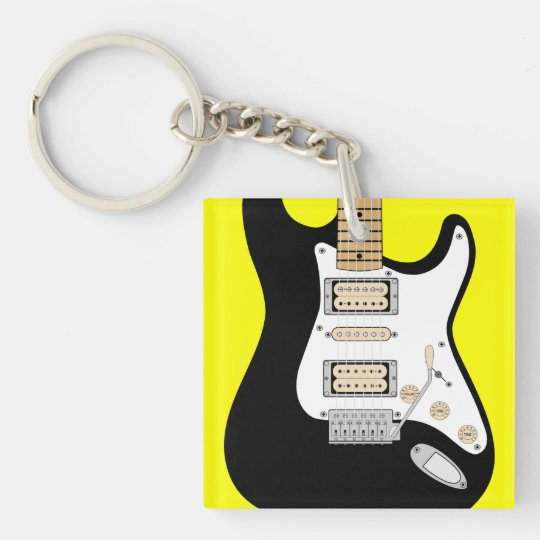 Electric Guitar Double-Sided Square Acrylic Keychain