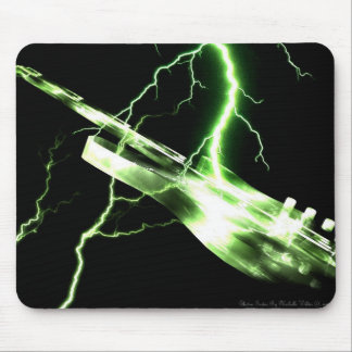 ELECTRIC GUITAR green Mouse Pad