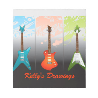 Electric Guitar Lovers Dream Notepads