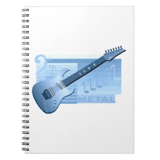 electric guitar metal blue.png spiral notebook