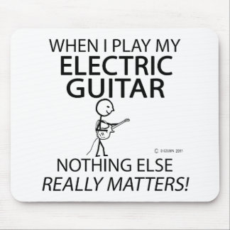 Electric Guitar Nothing Else Matters Mouse Pad