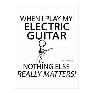 Electric Guitar Nothing Else Matters Postcard