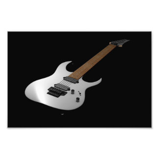 Electric guitar on black background photo print