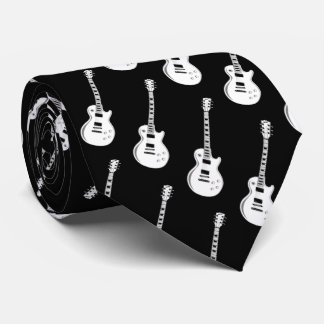 Electric Guitar Pattern Musician Tie