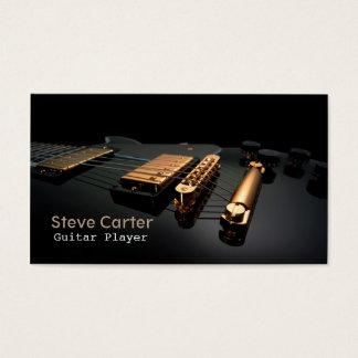 Electric Guitar Player Guitarist Artist Teacher Business Card