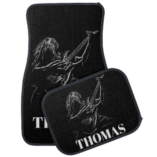 Electric Guitar Player Personalized Car Mat