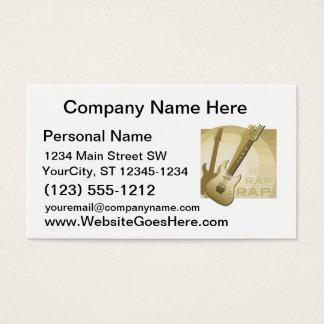 electric guitar rap word music bronze.png business card