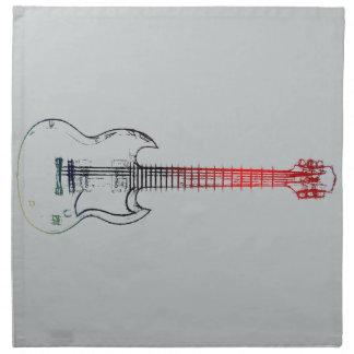 Electric Guitar (Red Blue) Cloth Napkins