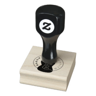 Electric Guitar Rock Music Cool Black White Modern Rubber Stamp