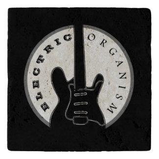 Electric Guitar Rock Music Cool Black White Modern Trivet
