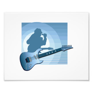 electric guitar singer blue.png photographic print