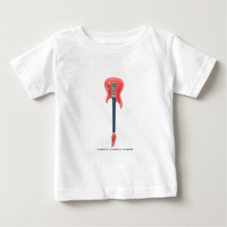 Electric Guitar white text 120-dpi pink Baby T-Shirt