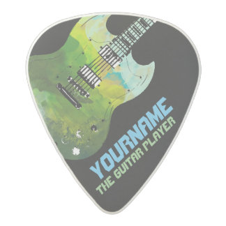 electric-guitar with your name & the band, acetal guitar pick