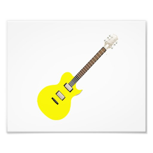 electric guitar yellow .png art photo