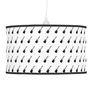 Electric Guitars - Black And White Lamp