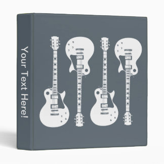 Electric Guitars Graphic 3 Ring Binder