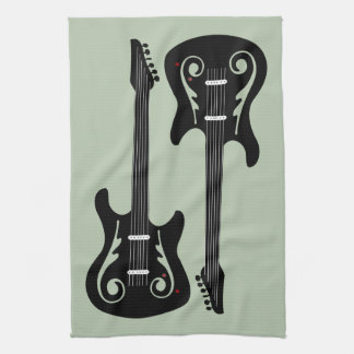 Electric Guitars Kitchen Towel
