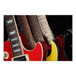 Electric Guitars Poster