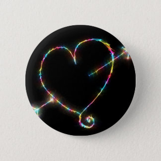 Electric Heart 2 Inch Round Button