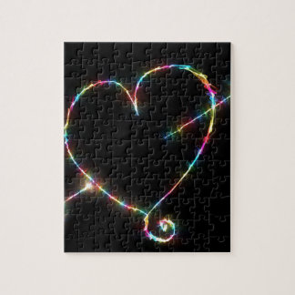 Electric Heart Jigsaw Puzzle