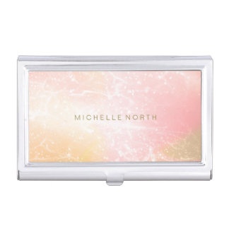 Electric Holograph Gradient Pink ID371 Business Card Holder
