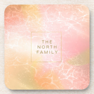 Electric Holograph Gradient Pink ID371 Drink Coasters