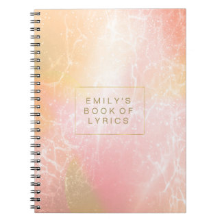 Electric Holograph Gradient Pink ID371 Note Books
