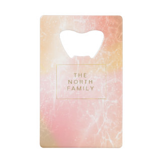 Electric Holograph Gradient Pink ID371 Wallet Bottle Opener