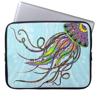 Electric Jellyfish Neoprene Laptop Sleeve