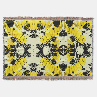 Electric Jungle Throw Blanket in Canary Yellow
