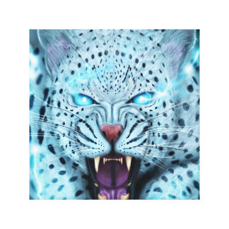 Electric lepored canvas print
