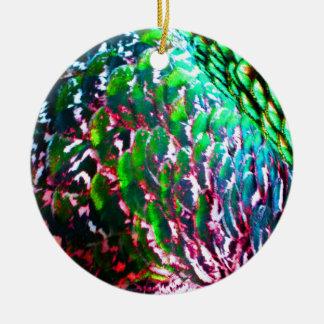 Electric Light Flumes Round Ceramic Ornament
