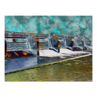 Electric Light Waterway Poster