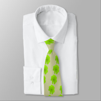 Electric Lime/ PopArt Flower Tie