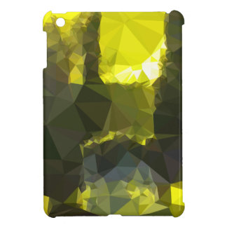 Electric Lime Yellow Abstract Low Polygon Backgrou Cover For The iPad Mini