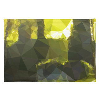 Electric Lime Yellow Abstract Low Polygon Backgrou Placemat