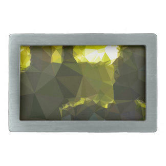 Electric Lime Yellow Abstract Low Polygon Backgrou Rectangular Belt Buckles