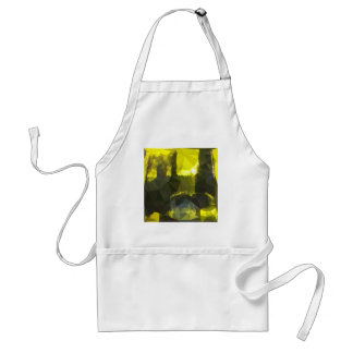 Electric Lime Yellow Abstract Low Polygon Backgrou Standard Apron