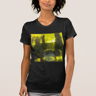 Electric Lime Yellow Abstract Low Polygon Backgrou T-Shirt