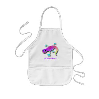 Electric Lizard Paint Smock! Kids Apron
