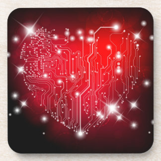 Electric Love Cork Coaster