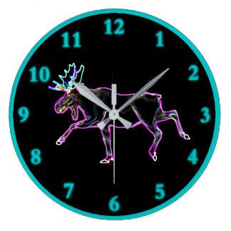 Electric Moose Large Clock