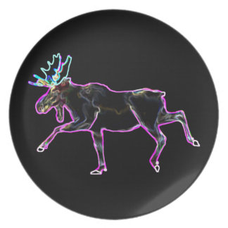 Electric Moose Party Plates