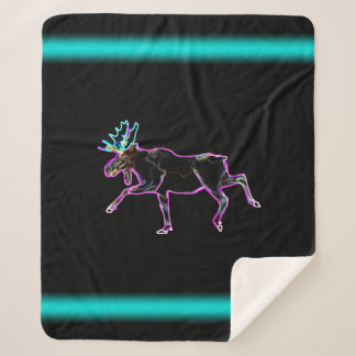 Electric Moose Sherpa Blanket