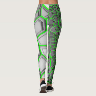 Electric Neon Green Digital Realism Leggings