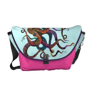 Electric Octopus Messenger Bag