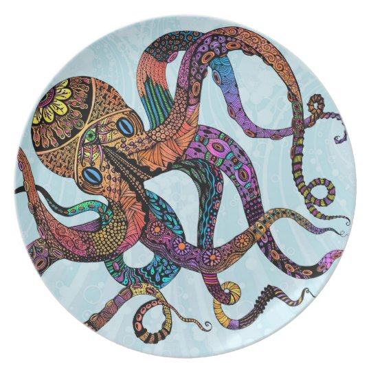Electric Octopus Plate