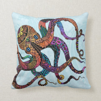 Electric Octopus Throw Pillows