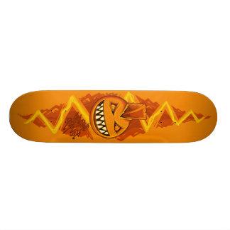 Electric Orange - PUNK Custom Skateboard