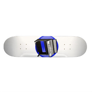 Electric Organ Blue Background Music Graphic Skateboards